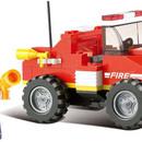 Stavebnice HASIČI mini požární vůz set 118 dílků + 1 figurka plast obr.3