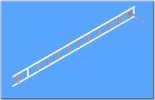 Žebřík hákový pro požární sport-s oválnými štěříny a titanovým hákem přes 3 příčky - obr. 1 z 5