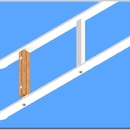 Žebřík hákový pro požární sport-s oválnými štěříny a titanovým hákem přes 3 příčky - obr. 2 z 5