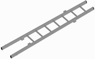 Žebřík záchranářský nastavovací - nastavovací díl (Atest dle EN 1147, 2001) - 2,6m
