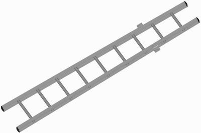 Žebřík záchranářský nastavovací - spodní díl (Atest dle EN 1147, 2001) - 2,6m
