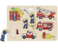 Hasičské hračky, puzzle s úchytkami
